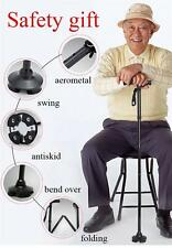 Led Folding Cane Trusty Cane Folding Walking Triple Head Pivoting Base with LED