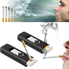 Windproof Rechargeable Battery Flameless Electronic Clipper Cigarette Lighter UD