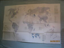 WORLD OF RIVERS MAP April 2010  National Geographic MINT