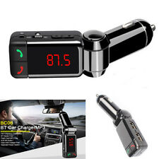 Car Kit LCD Bluetooth FM Transmitter MP3 Player Dual USB Charger Handsfree Phone