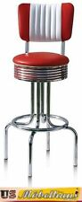 BS-28-CB Red Bel Air Barhocker Diner Theke Bar Stuhl Fifties Amerika Style USA