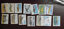 Lot of 14 Vintage Wings Cigarettes Cards Modern American Airplanes Series C