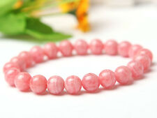 Natural Rose Rhodochrosite Gemstone Round Beads Bracelet 8mm AAA Fashion Jewelry