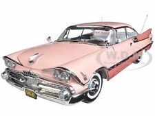 1959 DODGE CUSTOM ROYAL LANCER ROSE QUARTZ/CORAL 1/18 PLATINUM BY SUNSTAR 5481