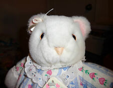 "Eden Plush White Bear Lanz Salzburg w Removable Flannel Nightgown 12"" Soft Baby"