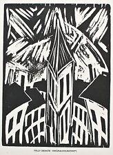 Willy Zierath - o. T. (Turm) - Holzschnitt - 1919