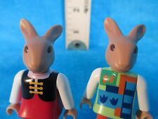 Playmobil figures SET OF TWO GIRL BUNNIES in different clothes