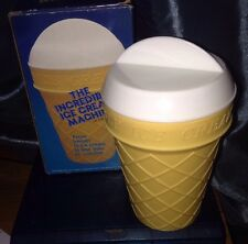 Vintage 1986  The Incredible Ice Cream Machine NEW