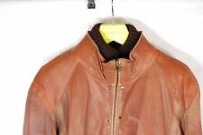 SUPER BEAUTIFUL!!! HUGO BOSS  MEN LAMB LEATHER  WARM BIKER  JACKET EU 52 US 42