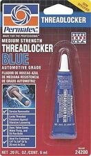 NEW PERMATEX 24200 LOCTITE 6ML BLUE MEDIUM STRENGTH THREADLOCKER 6047989