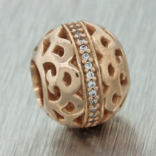 Authentic Pandora Rose Gold Plated Center of Attention CZ Charm Bead 780002CZ
