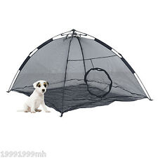 PawHut Portable Pet Pup Tent Folding Cat Dog Playpen Crate Indoor Outdoor Black