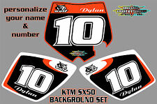 2002-2008 KTM 50SX SX50 DECALCOMANIE GRAFICHE ADESIVI STAMPATA RACE BACKGROUNDS