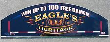Bally Patriotic Slot Machine Glass EAGLE'S HERITAGE