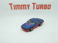 MATCHBOX T BIRD TURBO COUPE IN METALLIC BLUE 1987 1:67