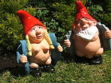 LARGE MR AND MRS FLASHER GNOMES. .LATEX MOULD/MOULDS/MOLDS