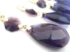 5 Amethyst Purple Teardrop Chandelier Crystals Prisms Wedding Decor Suncatcher