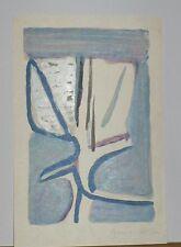 """Lithographie Originale de Bram Van VELDE,  """"  Fleur légère  """"   MP 382"""