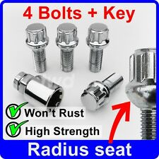 ALLOY WHEEL LOCK BOLTS FOR AUDI A1 A3 A4 (M14x1.5) 14MM LOCKING LUG NUTS [6R]