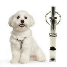 Silver Pet Dog Training Obedience Whistle Ultrasonic Sound Adjustable Accessory