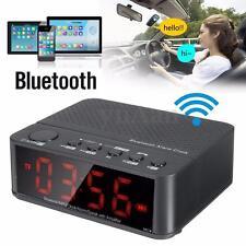 Numérique LCD Horloge Réveil + Bluetooth Enceintes Haut-parleur FM Radio MP3 TF