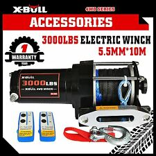 X-BULL 12V 3000LBS /1361KGS Electric Winch Synthetic Rope 10M Wireless ATV 4WD
