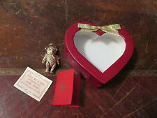 1996 The Bear Club 24KT Gold Plated Angel Bear w/ Heart Box
