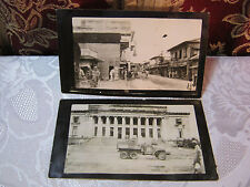 WWII PHILIPPINES STREET TOWN VIEW TAGALA HOTEL DRUG STORE  RARE REAL PHOTO