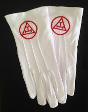Cotton Gloves with Royal Arch Chapter Emblem (RAM-GLC)