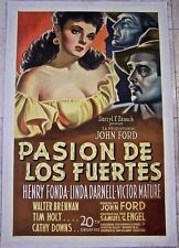 REDUCED 40!! MY DARLING CLEMENTINE '46 LB SPANISH 1 SH FONDA  FORD  BEAUTIFUL!