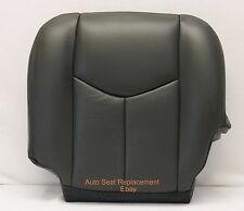 2003 2004 Chevy Avalanche Driver Bottom synthetic Leather Seat Cover Dark Gray