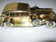 1934 Duesenberg by Signature Gold Plated Die Cast Toy Collectible