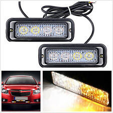 2x 4LED Warning Hazard Emergency Beacon Flash Strobe Signal Light Bar Waterproof