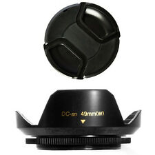 49mm Lens Hood Flower Crown Wide Petal Shape and Lens Cap for Fujifilm Fuji X100