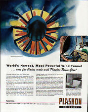 1944 PLASKON RESIN GLUE AD- WIND TUNNEL FAN  - LOF