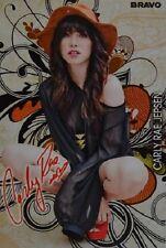 Carly Rae Jepsen-autografiada mapa-Autograph autógrafo fan colección recortes