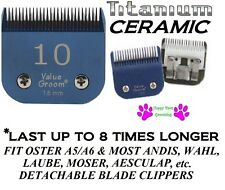 PRO TITANIUM CERAMIC 10 BLADE Pet GROOMING*Fit Oster A5/A6,Most Andis Clipper