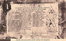 ISELLE VERBANIA LAPIDE COMMEMORATIVA DELLE VITTIME DEL TRAFORO SEMPIONE C4-212