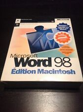 MICROSOFT WORD 98 macintosh edition french version