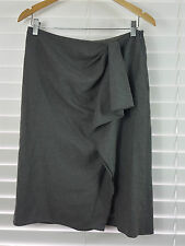 RALPH LAUREN sz 10 (or 6 us ) womens grey wool/cashmere skirt