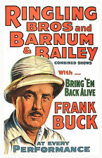 Ringling Brother's Circus Frank Buck Two 11x17 Posters