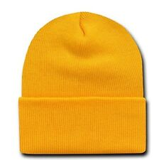 Yellow Gold Watch Stocking Cap Beanie Winter Stocking Hat Knit Cold Weather