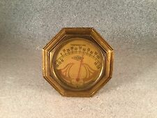 ART DECO CAR DASHBOARD GAUGE THERMOMETER & HOLDER E.W Co VIKING PRODUCTS AUTO