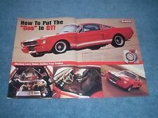 """1965 Shelby GT350 Mustang Fastback G-Machine Article """"How to Put the """"Gee"""" in GT"""