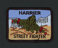 """Embroidered Military Patch USMC Harrier Street Fighter NEW VTOL airplane 3 1/4"""""""