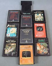 ATARI 2600 GAME SET OF 10 Minature Golf Fast Eddie Pac-Man Missile Command Frogs