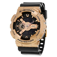 Casio G-Shock Black Dial Rose Gold-Colored and Black Resin Mens Watch