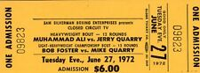 1972 Cassiuss Clay/Muhammed Ali Pass Ticket Vs Jerry Quarry Closed Circuit TV