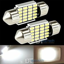 2X 31MM Festoon 3014 Chip LED Map/Dome Interior Light Bulbs 6000K White