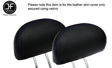PURPLE STITCH 2X REAR HEADREST LEATHER COVERS FITS HONDA CIVIC & TYPE R 01-05